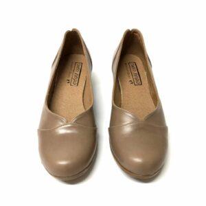 דגם 6462 : נעל בובה עור בצבע אפור