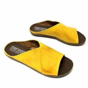כפכף עור DINA צהוב 2001