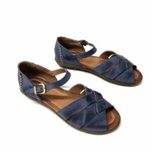 נעל עור SHOVAL כחול 888