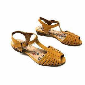 סנדל LIMOR עור צהוב 101