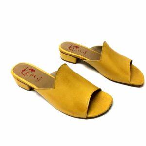 כפכף עור LILAH צהוב 305