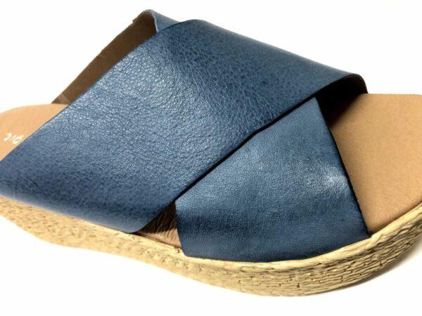 כפכף עור MONIC כחול 5575A