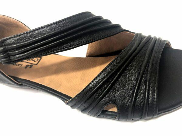 סנדל עור MIRI שחור 7006