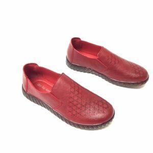דגם 10672: נעל נוחות בצבע אדום