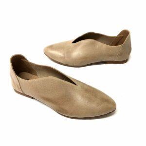 דגם 225 : נעל בובה עור בצבע אפור