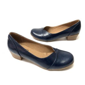 דגם 6462 : נעל בובה עור בצבע כחול