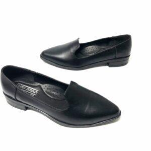 דגם 708 : נעל עור בצבע שחור
