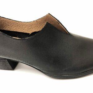 דגם 774 : נעל עור בצבע שחור