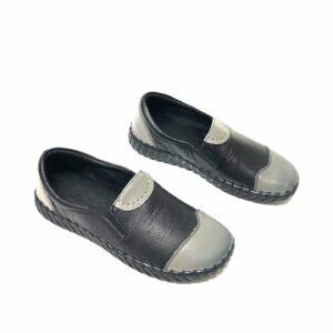 דגם 863 : נעל עור בצבע שחור/אפור