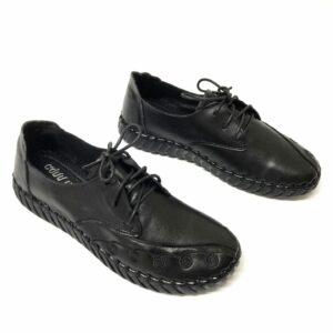 דגם 9235 : נעל עור בצבע שחור