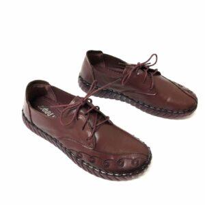 דגם 9235 : נעל עור בצבע בורדו