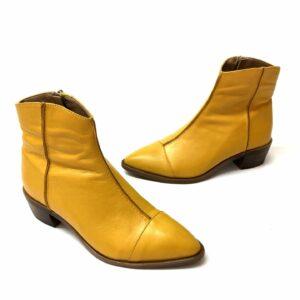 דגם 422 : מגפון עור TONY בצבע צהוב