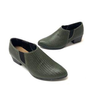 דגם 06050 : נעל שיקית בצבע קרוקו ירוק