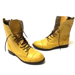 דגם 1077 : נעל עור KINERET בצבע צהוב