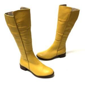 דגם 252081 : מגף עור EFRAT בצבע צהוב